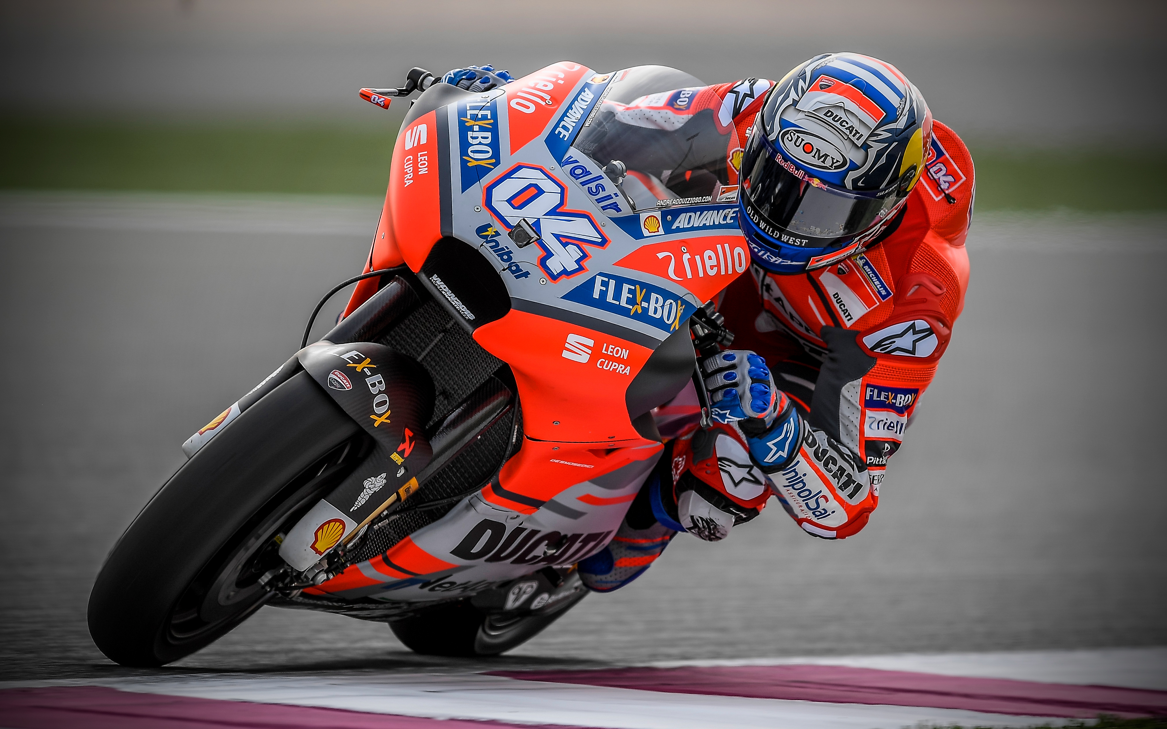 Download wallpapers Andrea Dovizioso Italian motorcycle racer 3840x2400