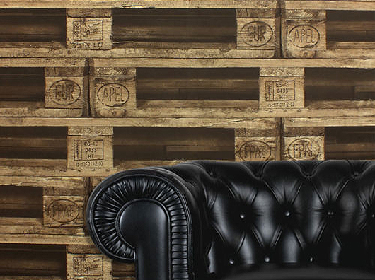 Wallpaper Johns Unusual Wooden Pallet Paste the Wall Washable 530x396
