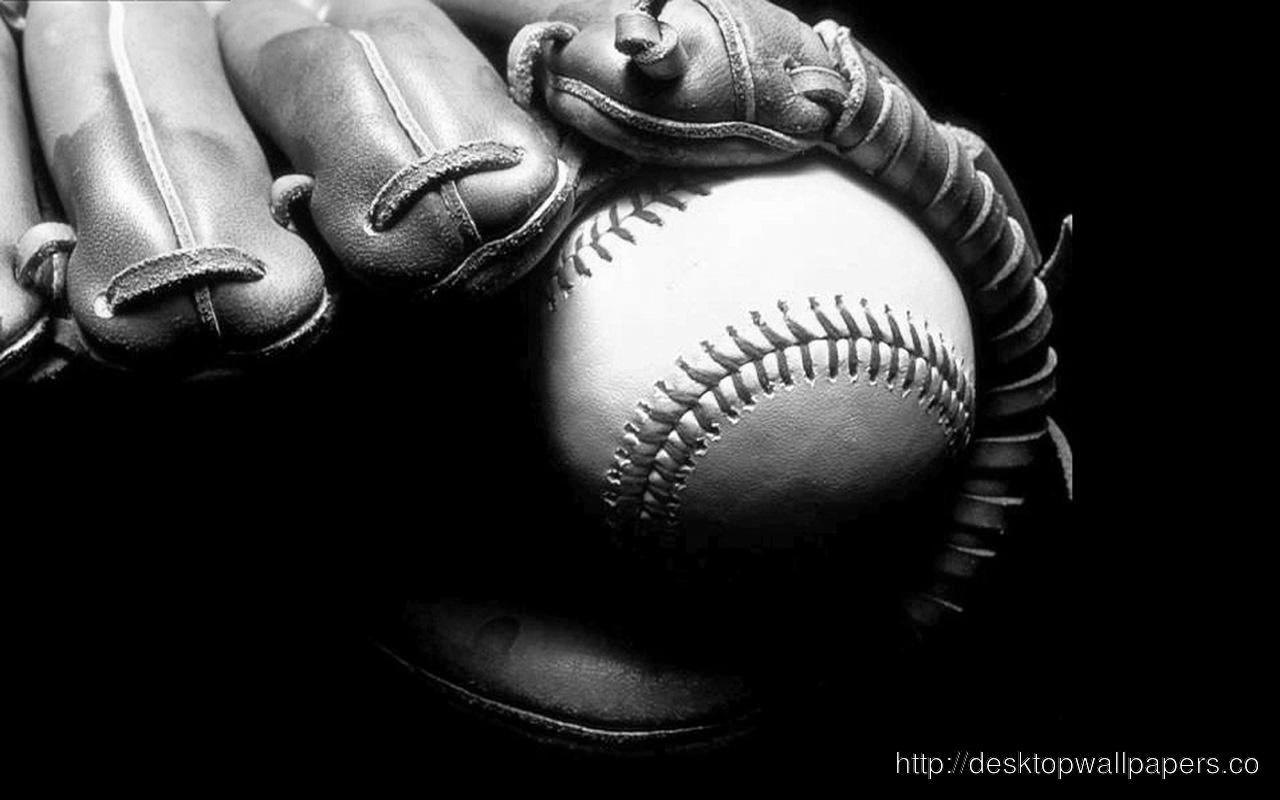 HD baseball black and white WallpaperDesktop Wallpapers Download 1280x800