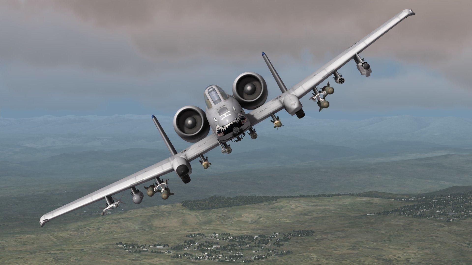 ... military airplane plane thunderbolt warthog (15) wallpaper background