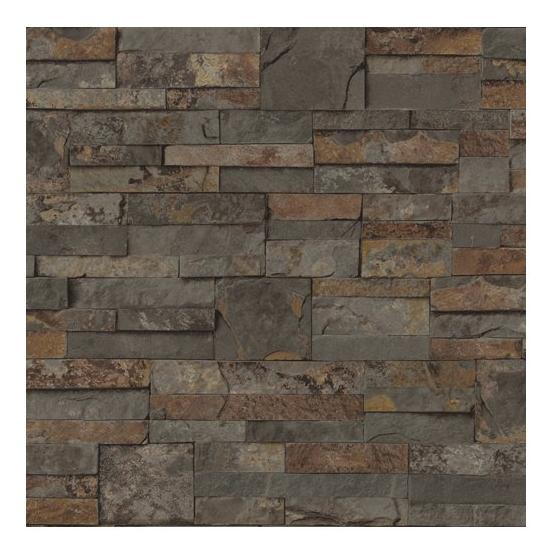 Ledgestone Brown Peelable Vinyl Prepasted Wallpaper Lowes Canada 554x554