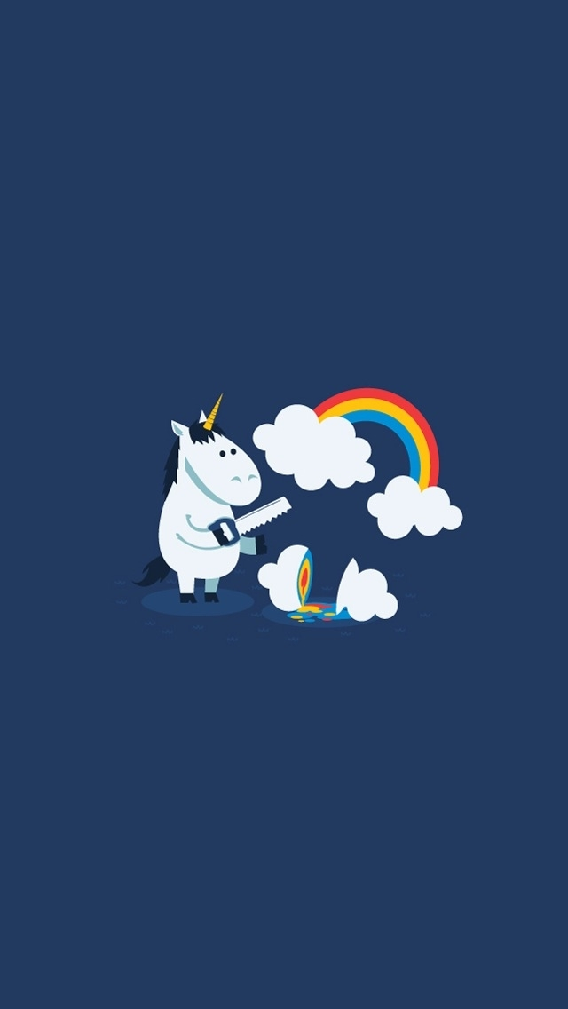Funny unicorn   Best iPhone 5s wallpapers 640x1136
