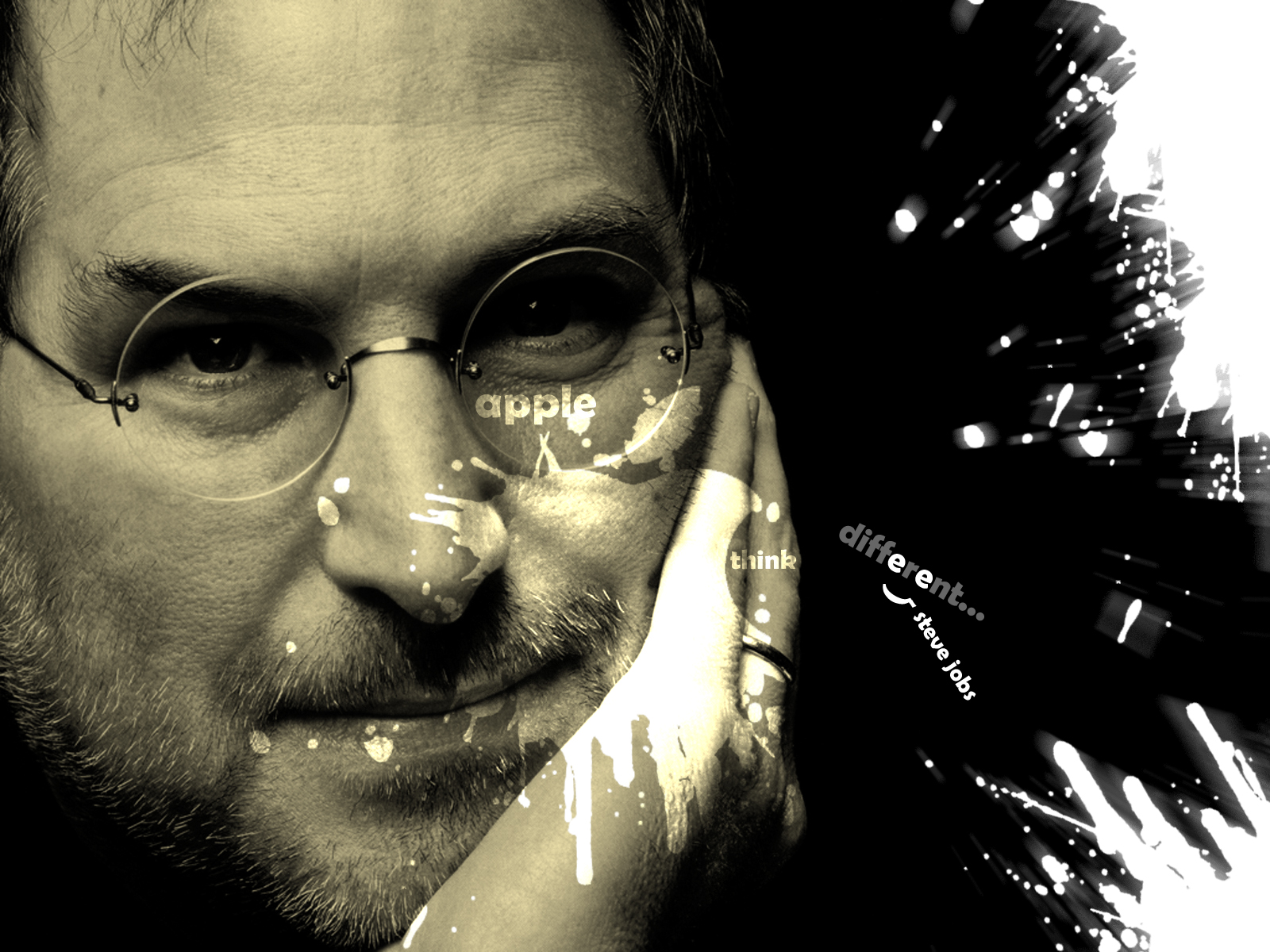 Steve Jobs Quote Tribute Design HD Wallpaper 2012 Top Model Dress 1600x1200