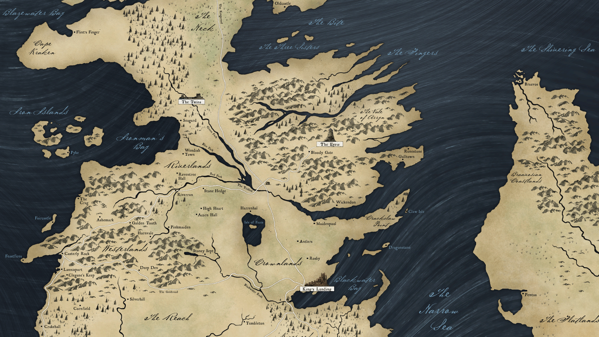 Map of Westeros Wallpaper - WallpaperSafari