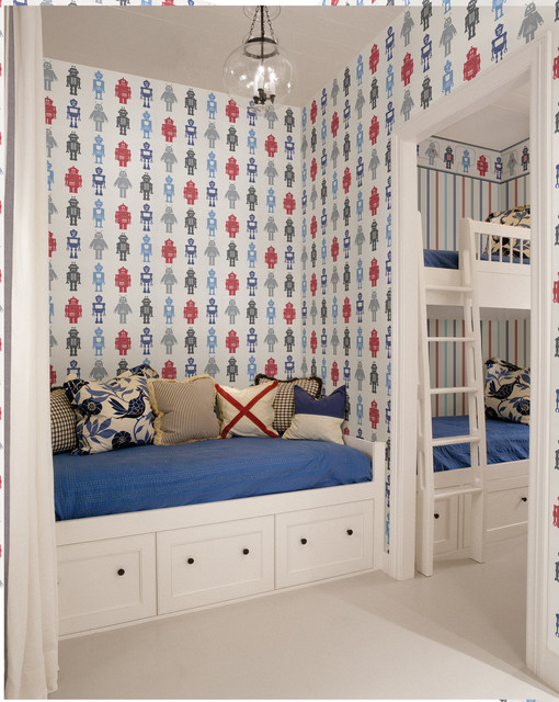 Robot Wallpaper   Traditional   Kids   other metro   by Brewster Home 510x640