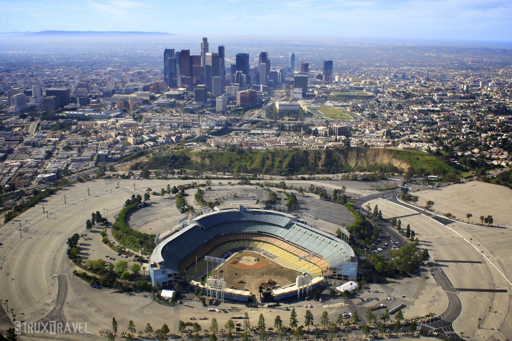 Dodger Stadium Wallpaper Downtown LA WallpaperSafari - Los angeles map wallpaper