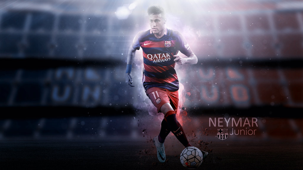 Neymar 20152016 Wallpaper by RakaGFX 1024x576