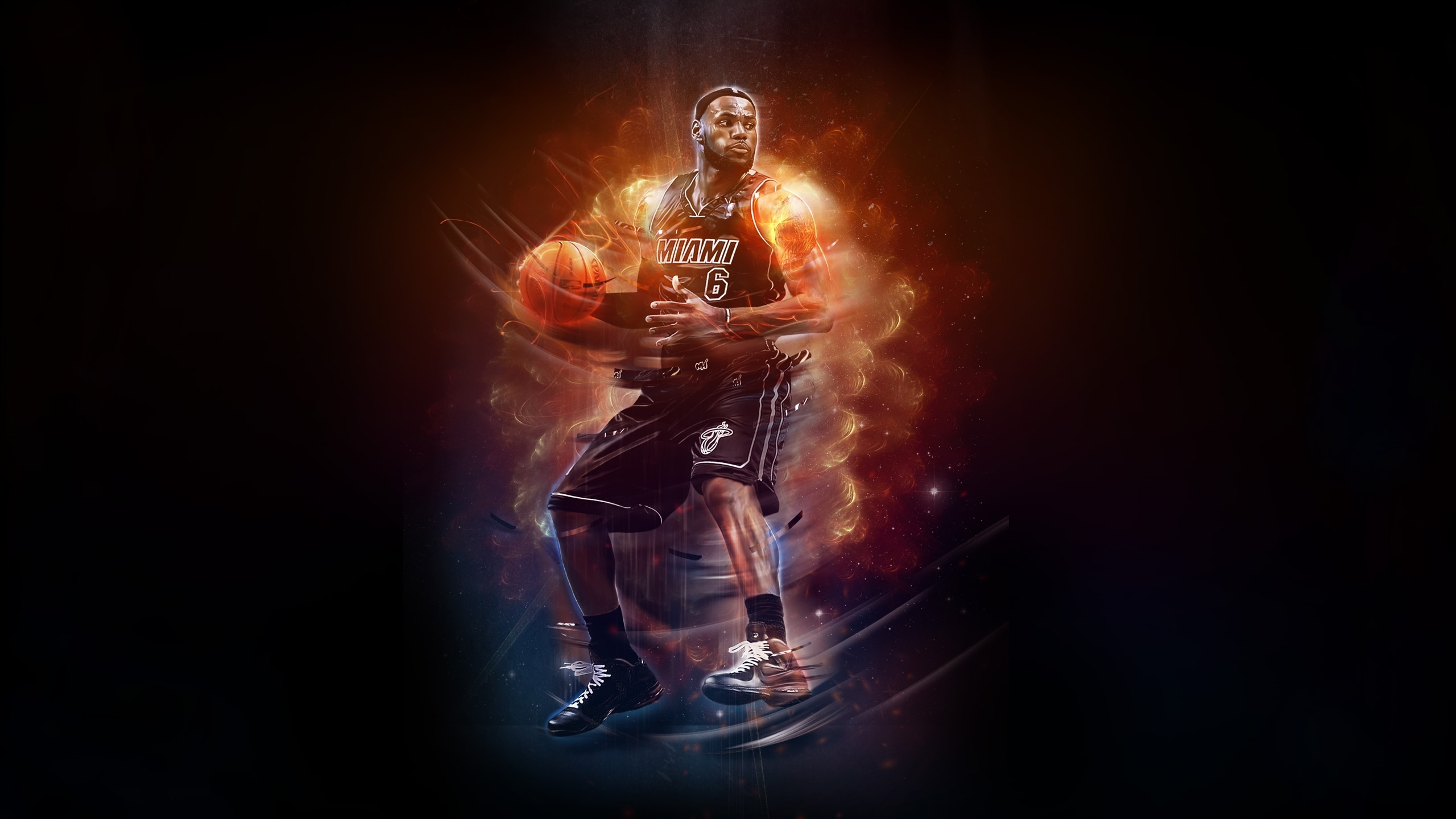 basketball miami heat 6 player fire wallpapers photos pictures 2560x1440