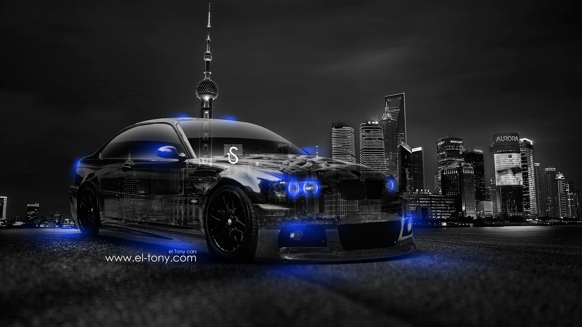2014 Blue Neon HD Wallpapers Design By Tony Kokhan [wwwel Tonycom 1920x1080