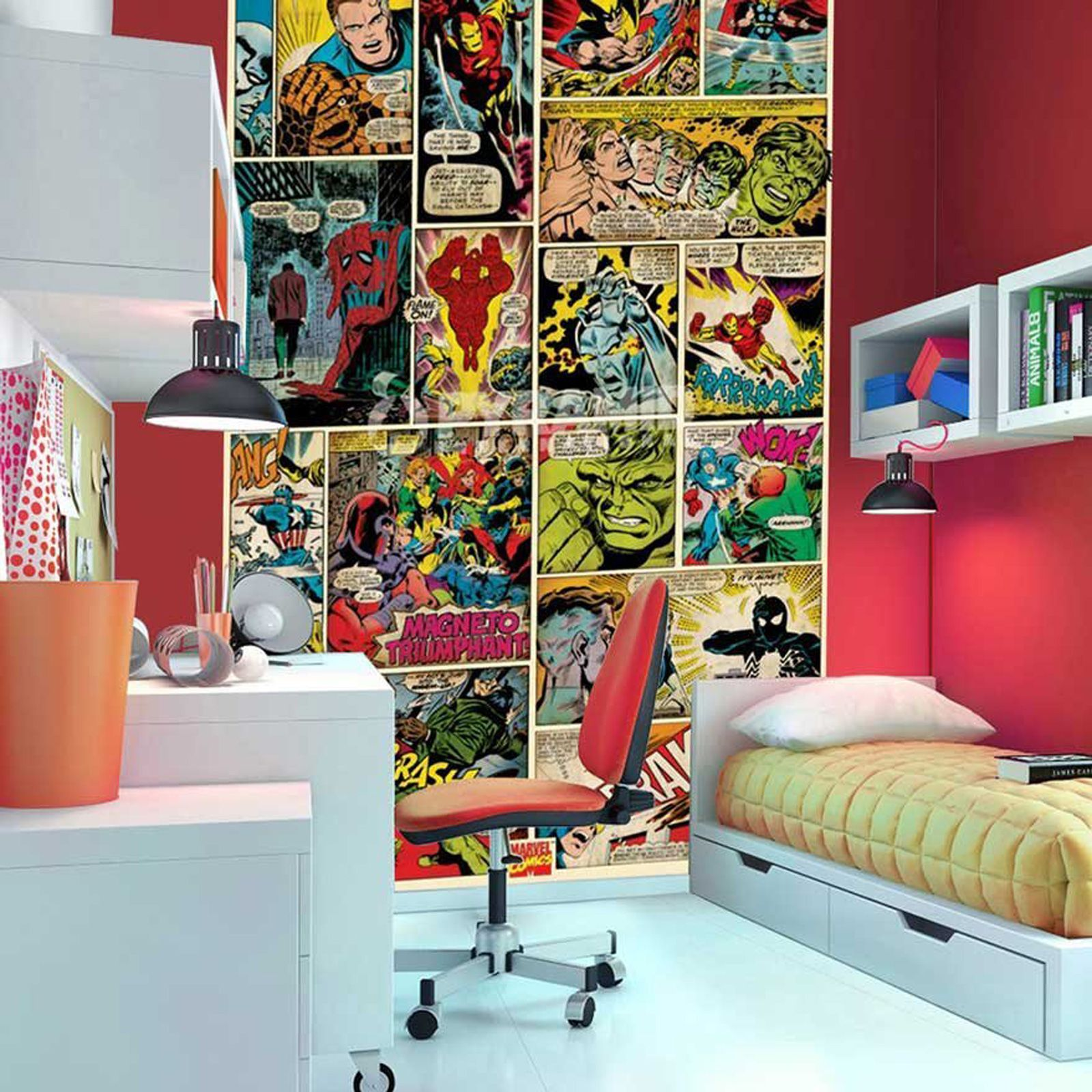 43+] Marvel Comics Wallpaper Bedroom on WallpaperSafari