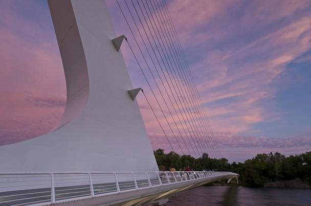 Pink Sunset at Sundial Bridge   Traveler Photo Contest 2013   National 608x403