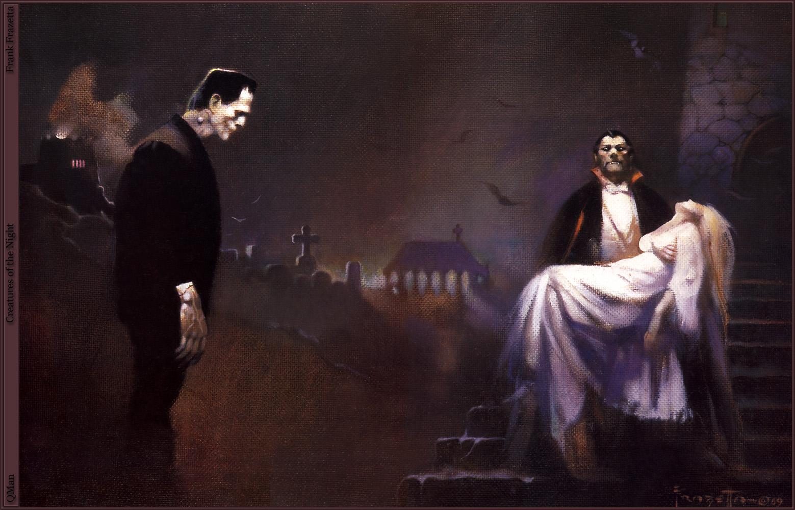 Photo vampire Frank Frazetta Fantasy young woman 1559x1000