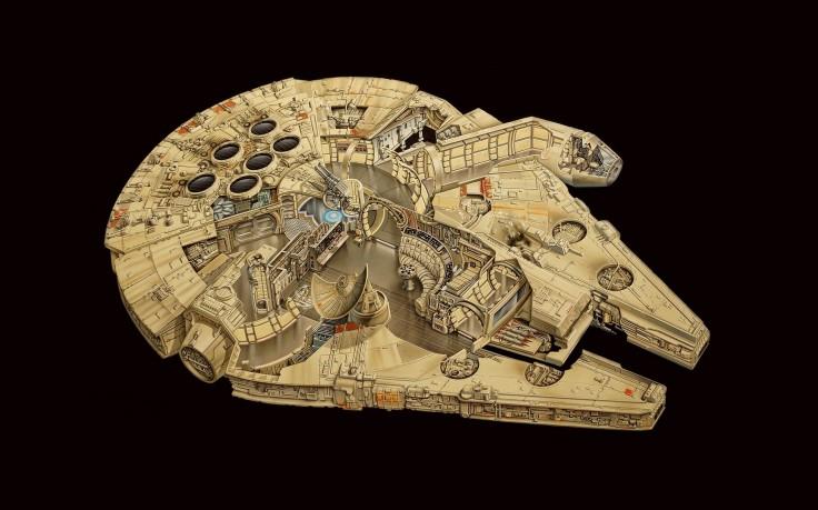 Millennium Falcon Star Wars HD Wallpaper Desktop Background 736x459