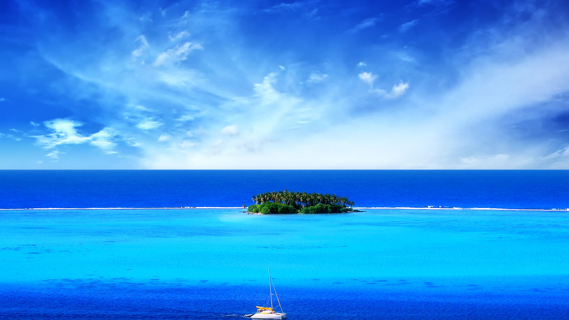 Gallery For > Tropical Island Wallpaper With Fish