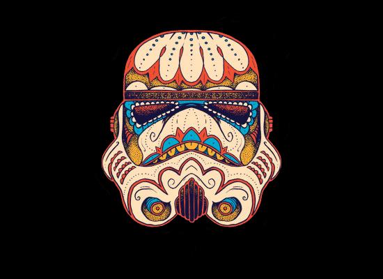 Stormtrooper Sugar Skull Wallpaper Sugar skull stormtrooper by 550x400