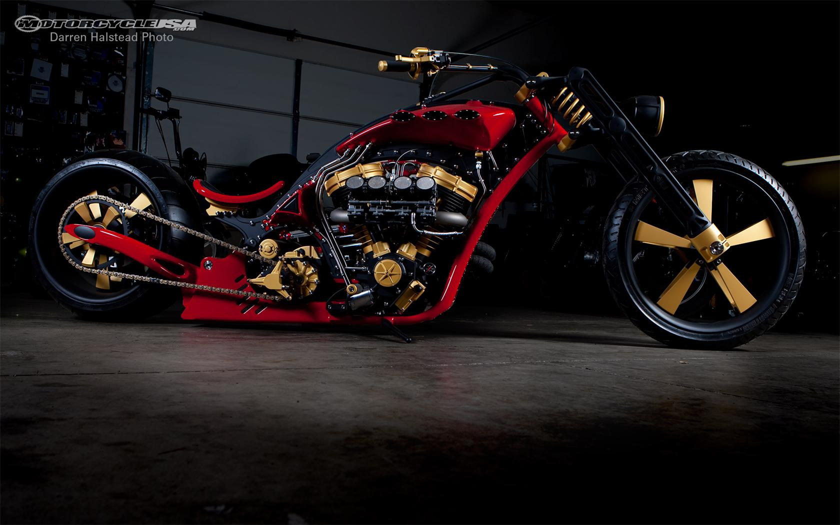 Custom Builders Motorcycle Thunderstruck backgrounds 1024x768 Custom 1680x1050