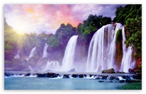 Exotic Waterfall Wallpaper: Tropical Waterfall Desktop Wallpaper