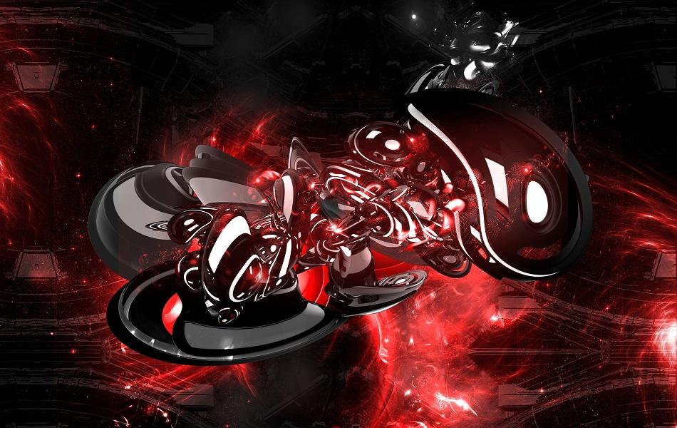 Red Abstract HD Wallpaper 1080p PiCsHoliC 950x600