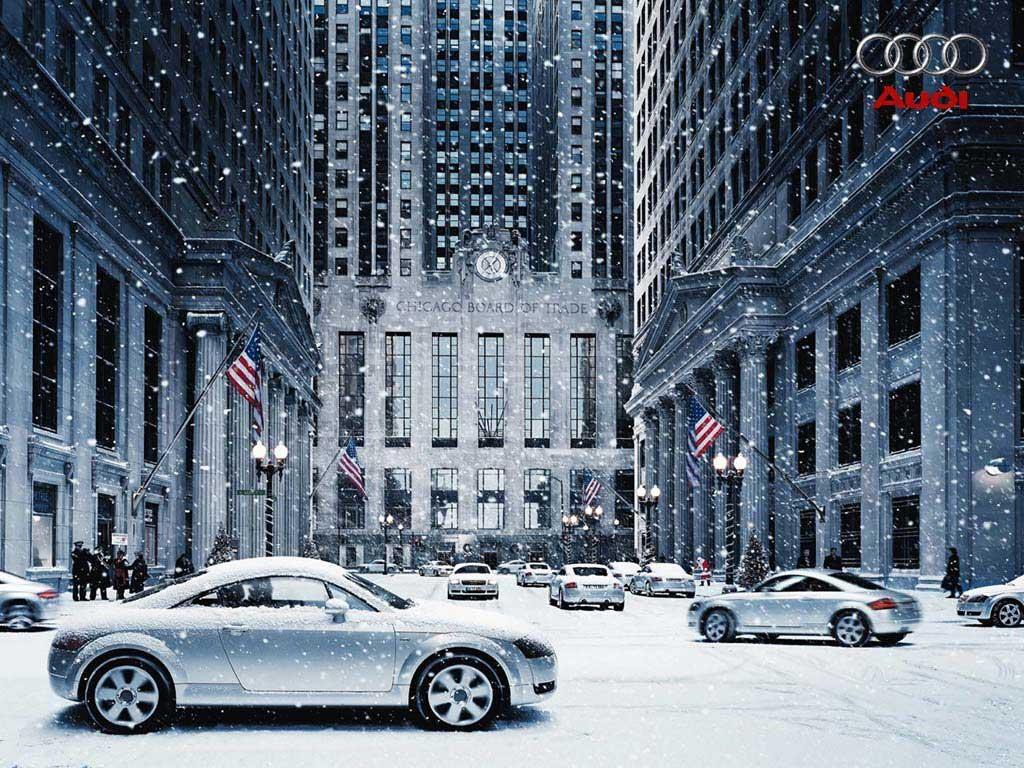 Download Wallpaper Audi TT at Christmas New York 1024 x 768 Desktop 1024x768