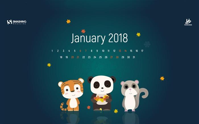 January 2018 Calendars Desktop HD Wallpaper Album List 700x437