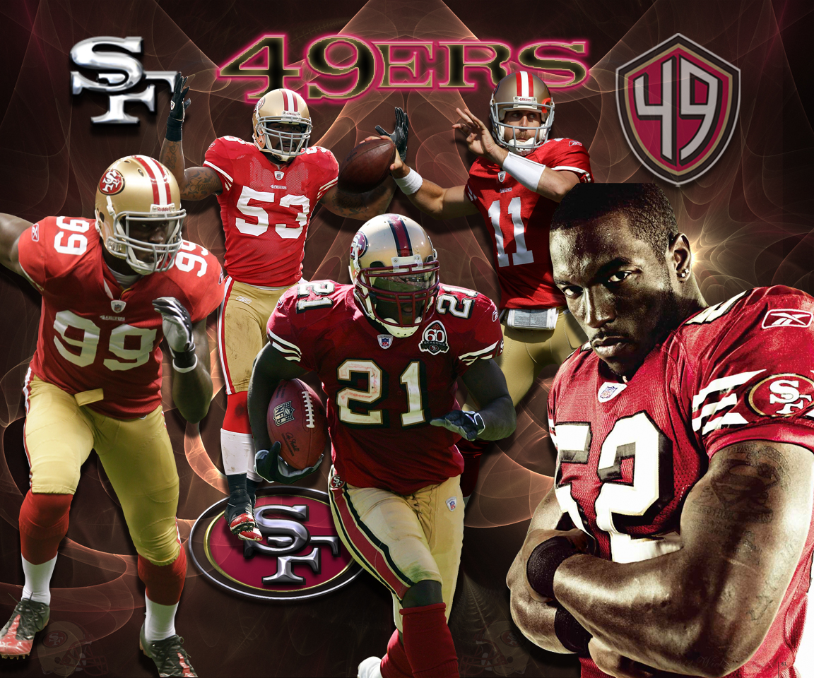 Wallpapers By Wicked Shadows San Francisco 49ers Team Wallpaper 1152x960