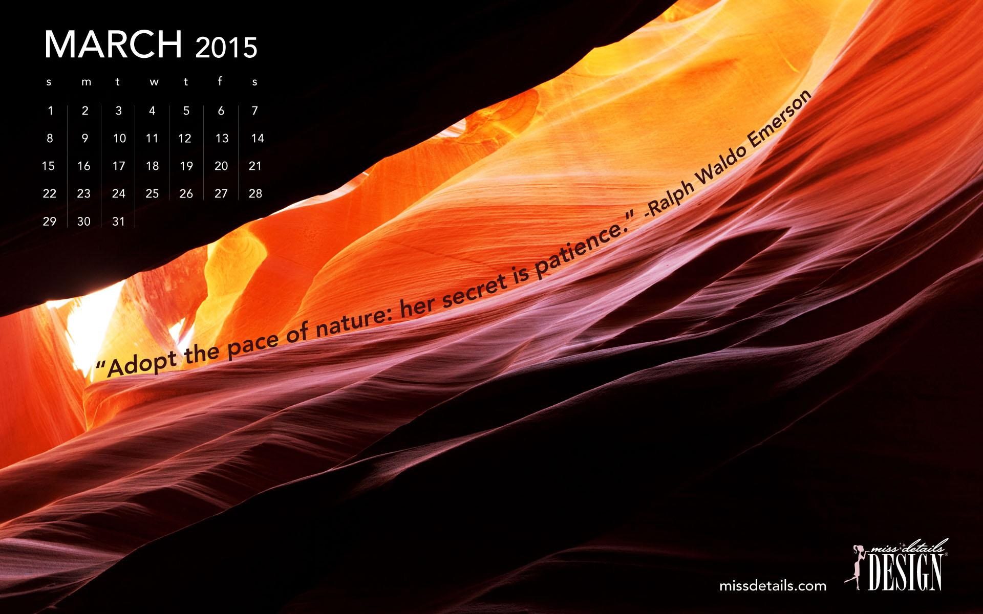 March 2015 desktop wallpaper from missdetailscom   Ralph Waldo 1920x1200