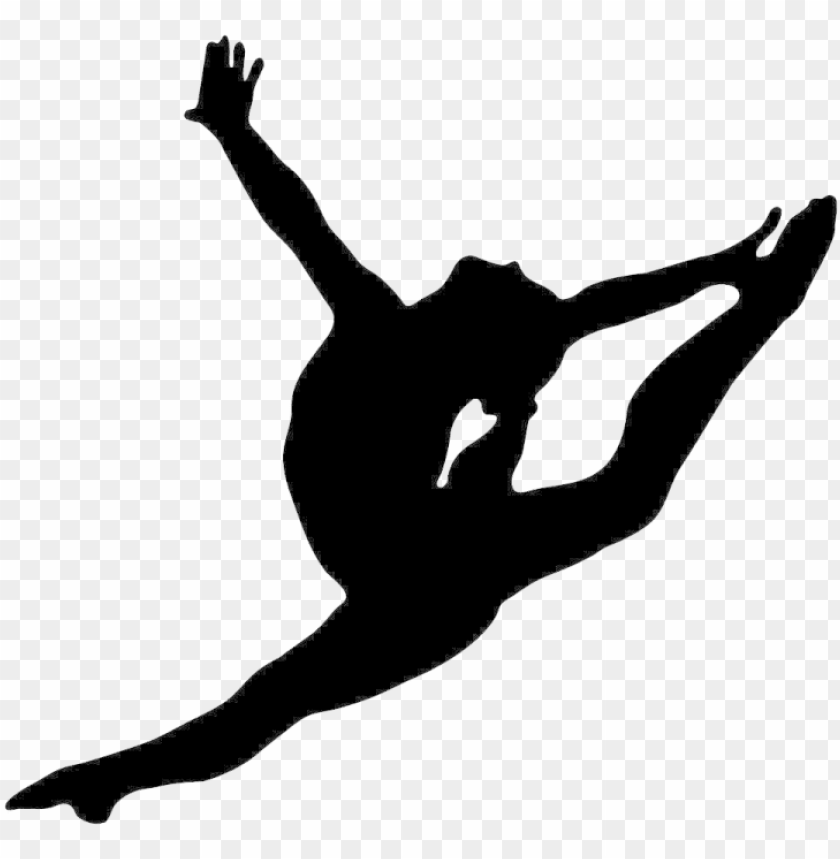 artistic split clip art   gymnastics silhouette PNG image with 840x859