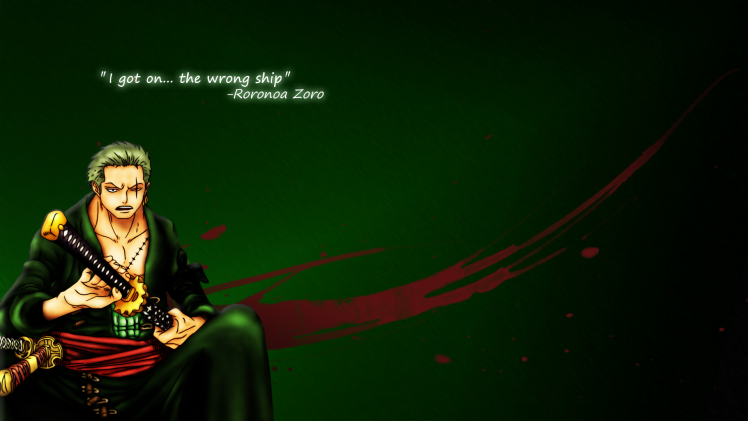 Roronoa Zoro One Piece Samurai Wallpapers HD Desktop 748x421