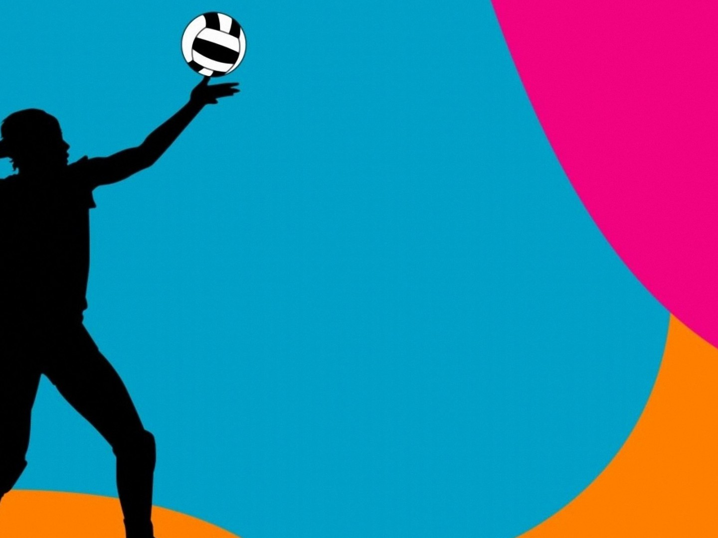 colorful volleyball ball backgrounds Colorful Volleyball Background 1440x1080
