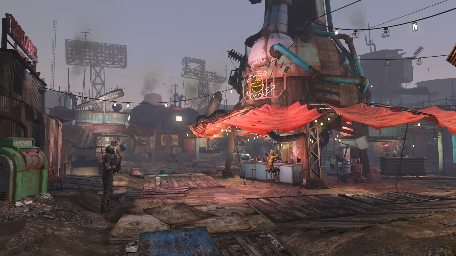 Game illustration Fallout 4 Fallout Diamond City HD wallpaper 1600x900