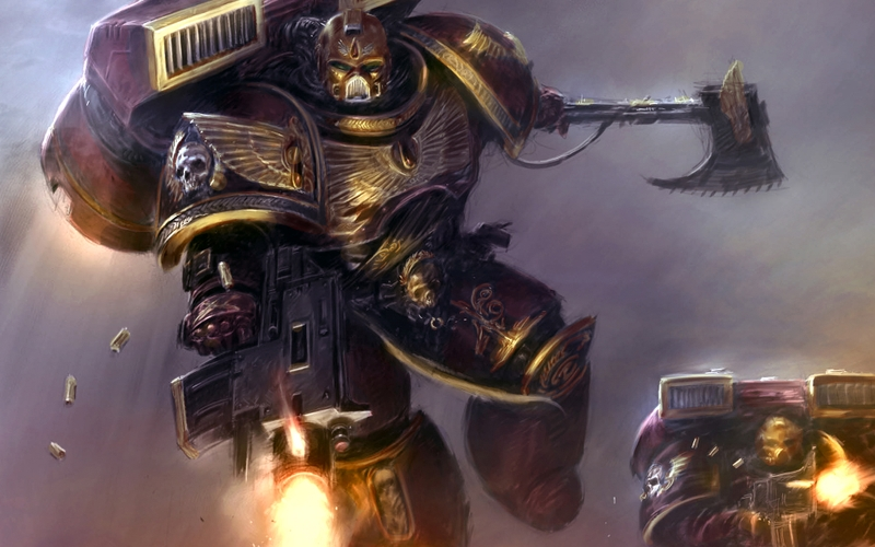 warhammer 40k space marines bolter science fiction 1920x1200 wallpaper 800x500