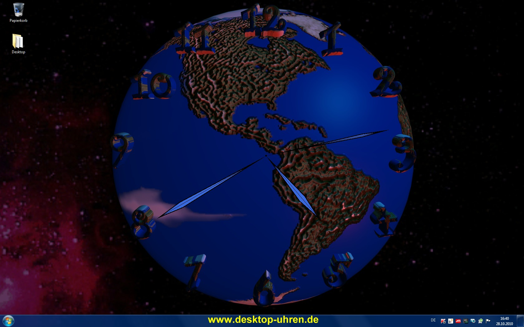 World Clock Desktop Wallpaper