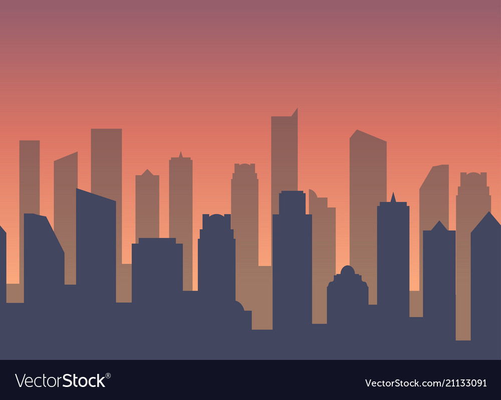 Background with city for business web site Vector Image 1000x798