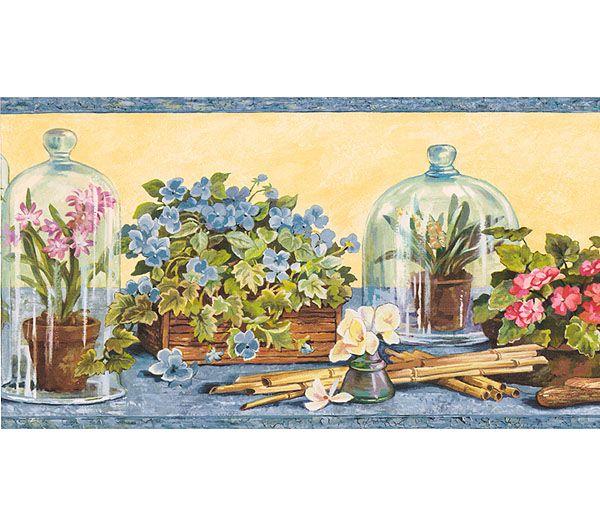Rose Wallpaper Border Victorian Floral Cottage Wallpaper Border 600x525