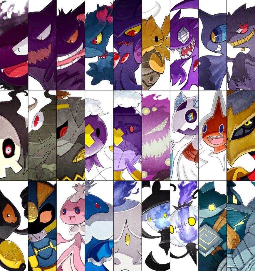 Ghost Pokemon Battle Cuts by Amastroph 868x920