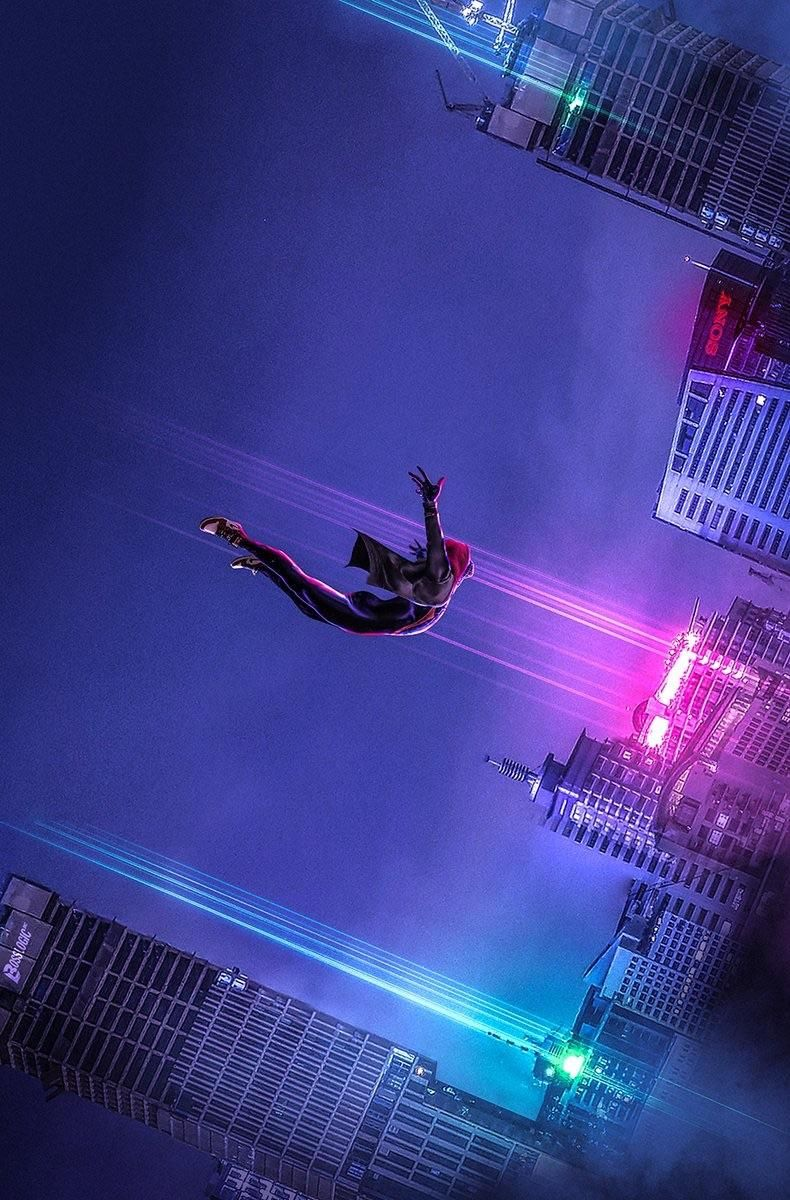 Free Download Spiderman Into The Spider Verse Beautiful Wallpaper