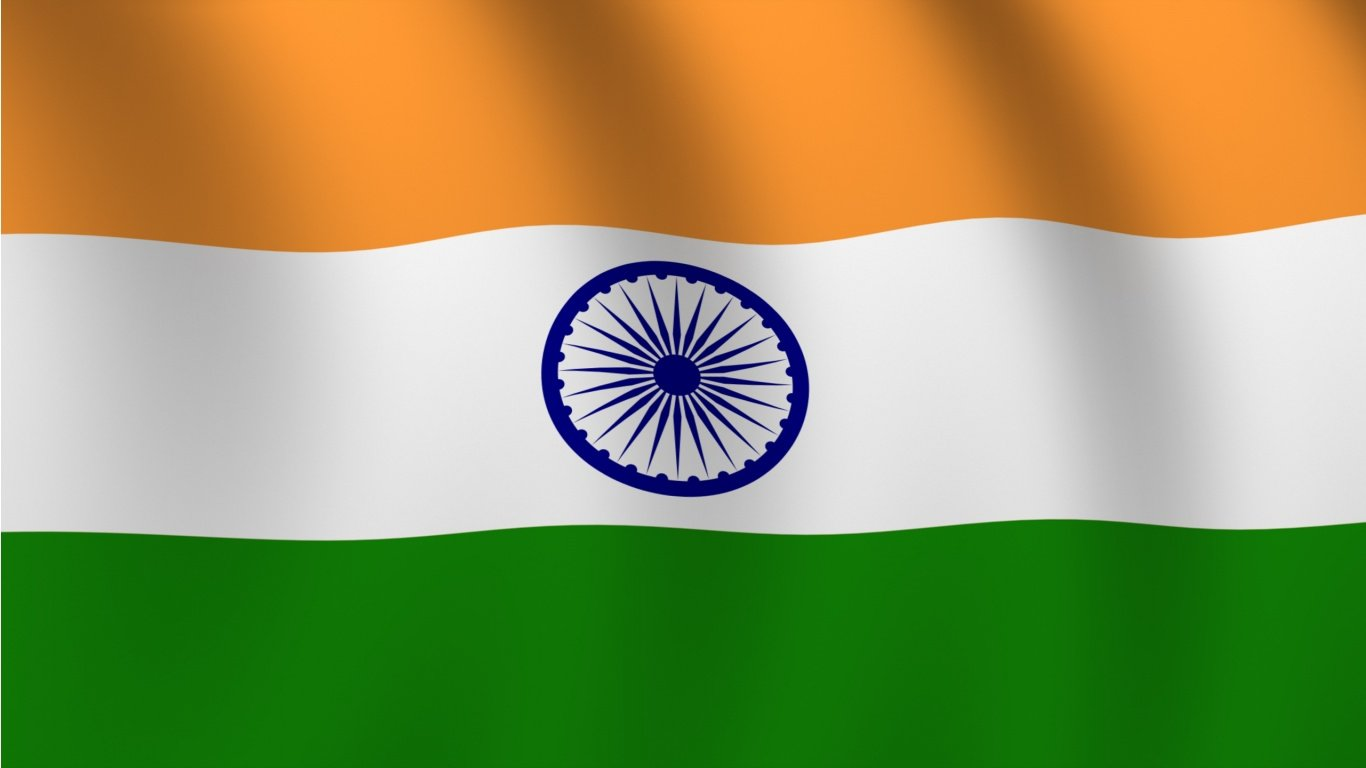 India flag wallpaper in 1366x768 screen resolution 1366x768