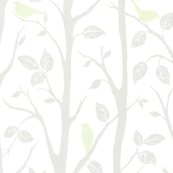 Light Green Bird Branches Wallpaper Bolt   Contemporary   Wallpaper 600x600