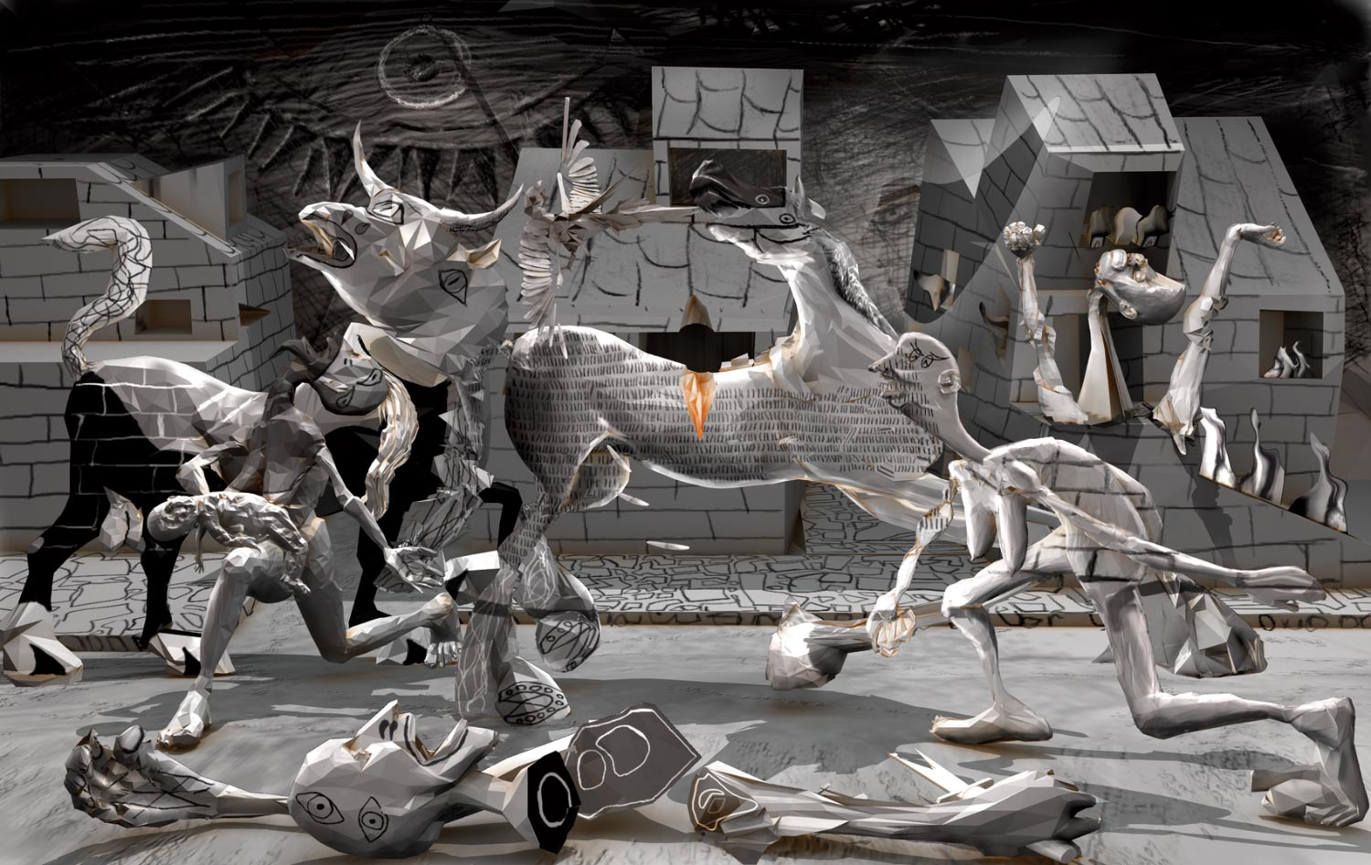 Guernica Painting In Color Guernica by polygonist 1500x946