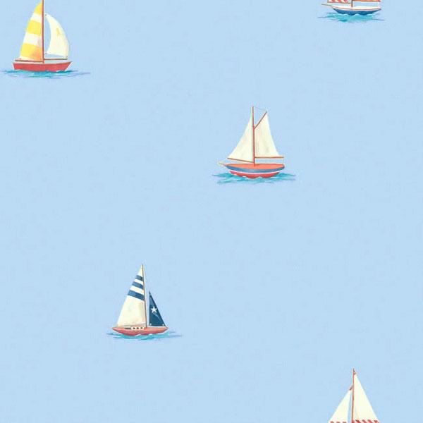 SAILBOATS Prepasted WALLPAPER ROLL Sail Boat Sailing Accent Decor 600x600