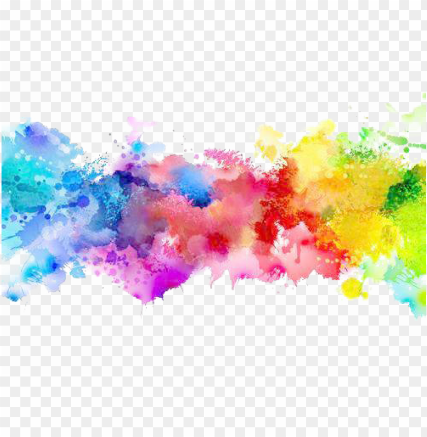 color png transparent   paint splatter rainbow PNG image with 840x859