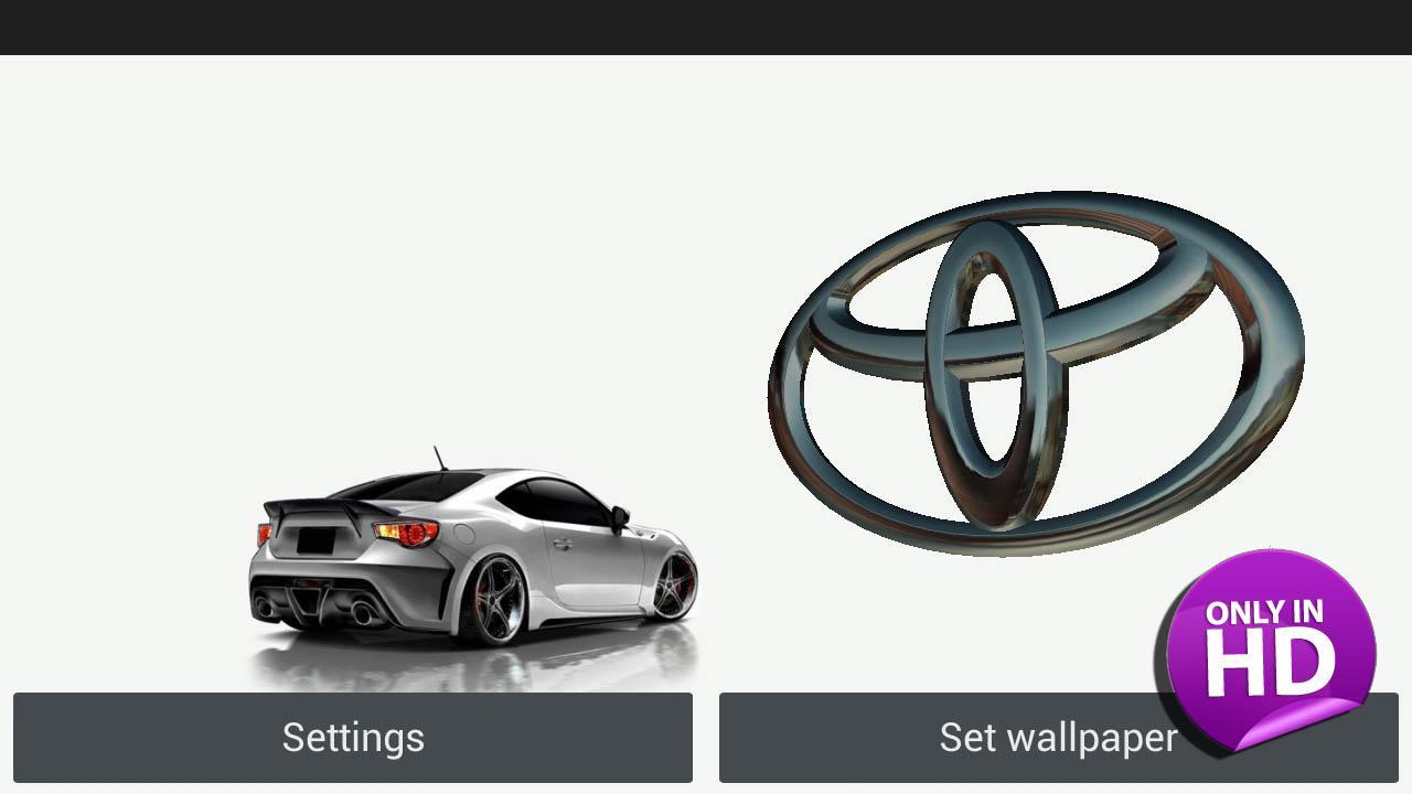 3D TOYOTA Logo Live Wallpaper   3D TOYOTA Logo 1280x720