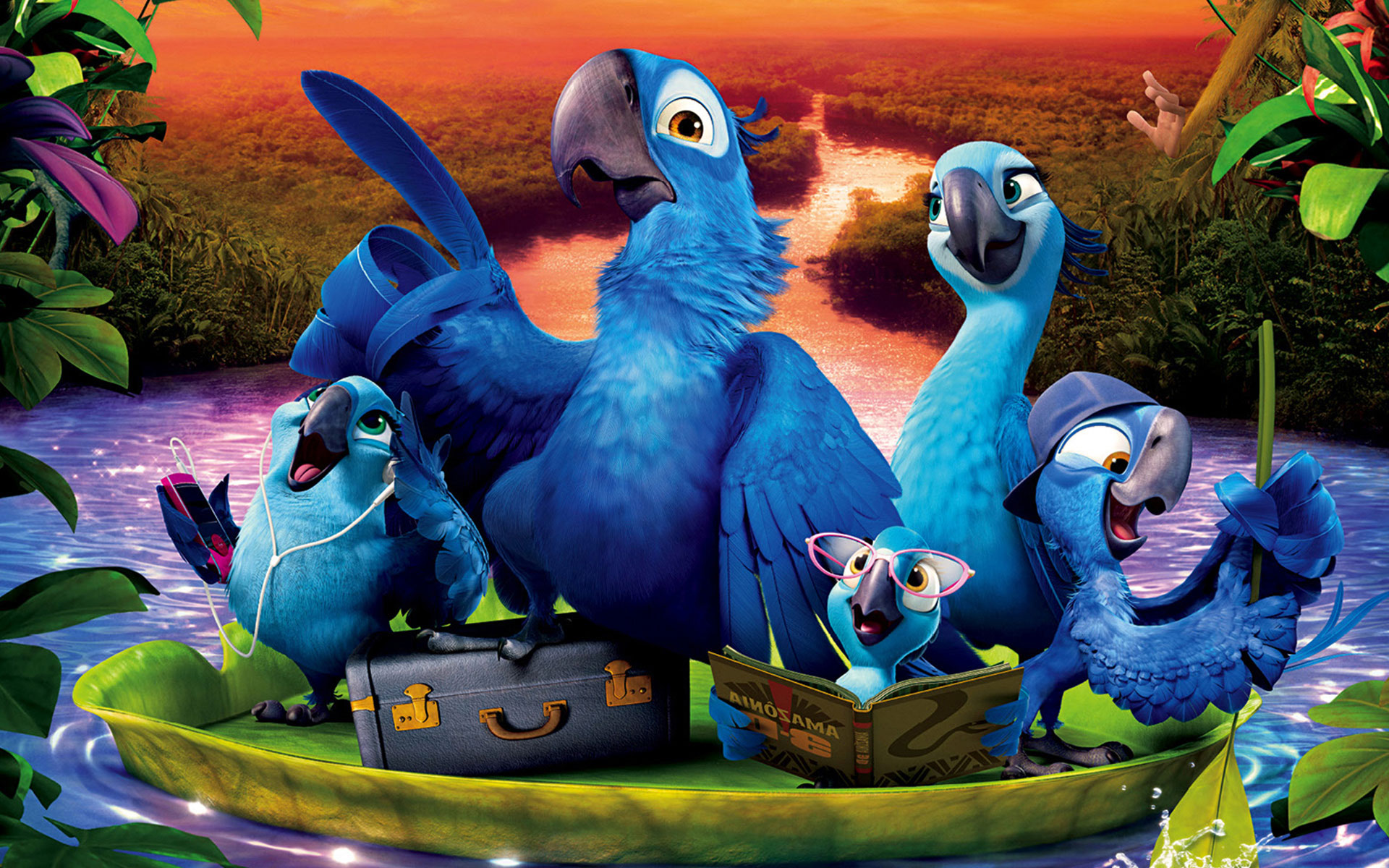 free hd rio 2 family wallpapers desktop backgrounds rio 2 2014 movie 1920x1200