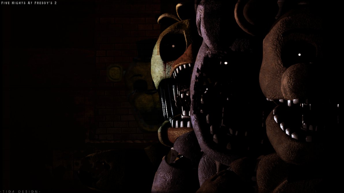 Download Fan Art FNAF2] Animatronics Wallpaper by Tiga1122
