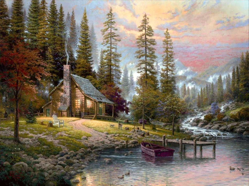 Download Log Cabin Wallpaper 24 Wallpaper Background Hd HD 1024x768