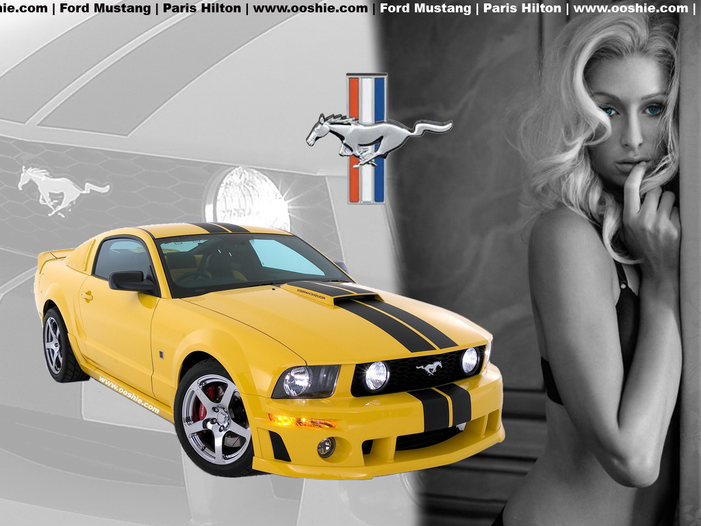 Paris hilton ford mustang wallpapers paris hilton ford mustang stock