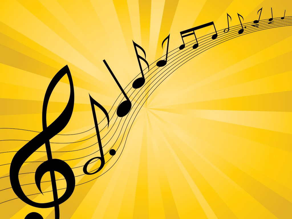 Introductions Music Melody Backgrounds   Black Music 1024x768
