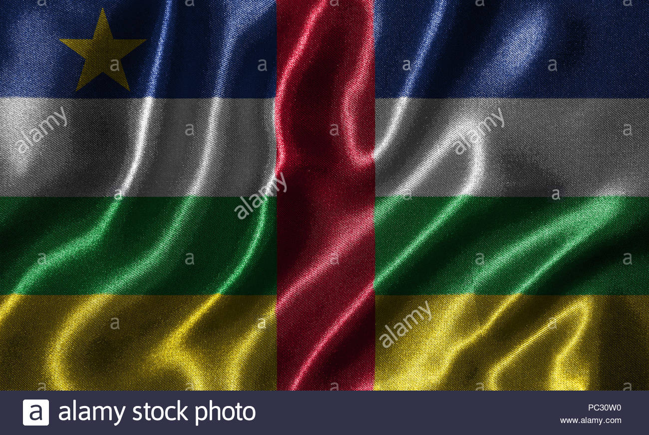 Central African Republic flag   Fabric flag of Central African 1300x871