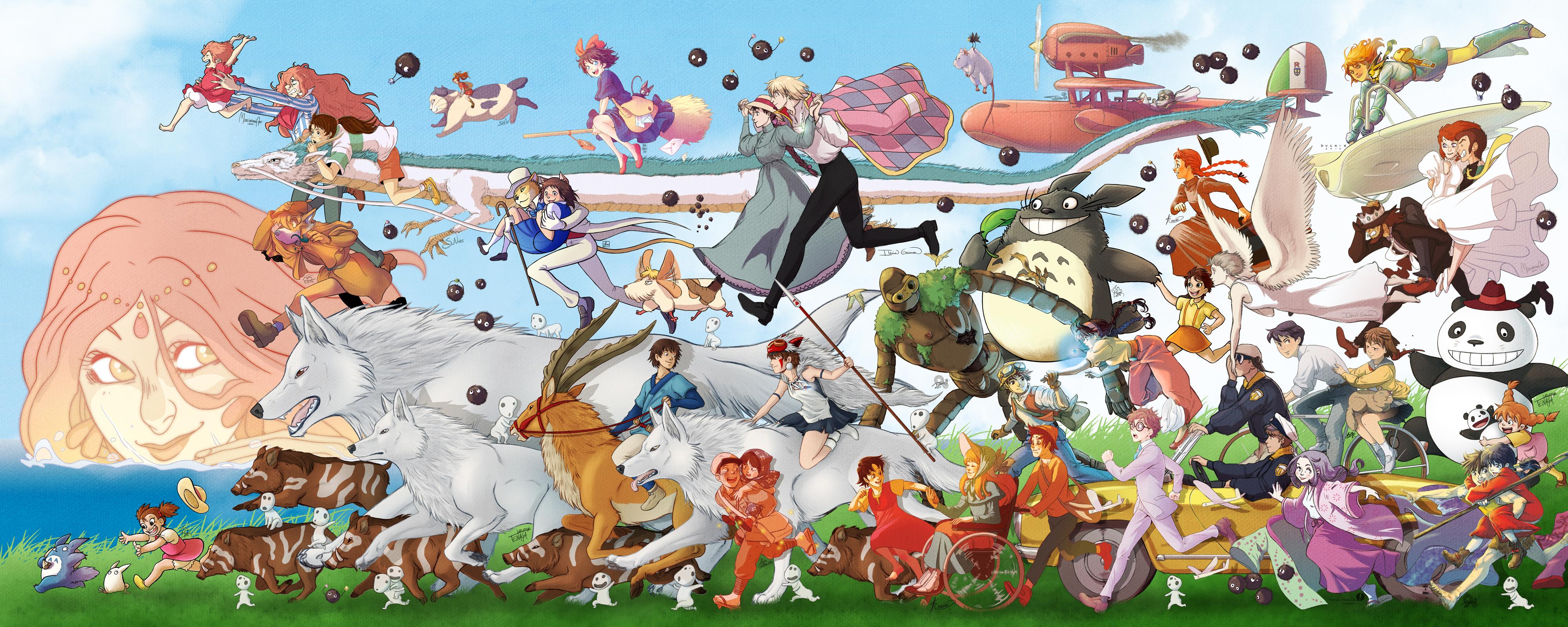 Ghibli parade by Tenaga 4000x1600