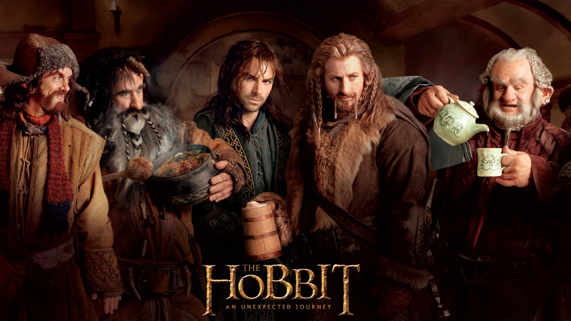 dwarfs The Hobbit Dori Kili Fili Bifur Bofur Wallpapers 1920x1080